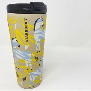 Starbucks Zebra Print Cold Hot Travel Cup Tumbler